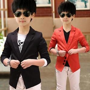 cb30f6273 Boys Fashion Casual Clothes Suit Jacket Kids Toddlers Wedding Party ...