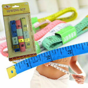 Pack of 2 Pcs Pink White Generic 150cm 60 Soft Tape Measure for Sewing Tailor Cloth Ruler