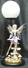 """Mushroom Fairy Lamp Statue Figurine Purple  H17"""""""