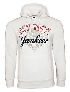 MENS SMALL Majestic NEW YORK YANKEES Hooded Varsity Jacket Top Hoodie baseball