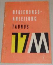 Betriebsanleitung Ford 17M P3 Barock Taunus Stand 01/1959
