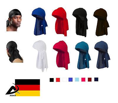 Neue Unisex Turban Hut Doo Durag Headwear Stirnband Weiche Seide Piratenmüt J1N8