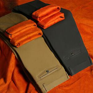 Hombres-Jeans-Termica-Gruesa-De-Invierno-Pantalones-Chino-Forro-Polar-Recto-Pantalones-Caliente
