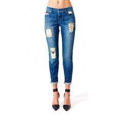 KILL CITY Women's Boyfriend Patched Vintage Wash Denim Jeans goth sz 26 Last Pcs