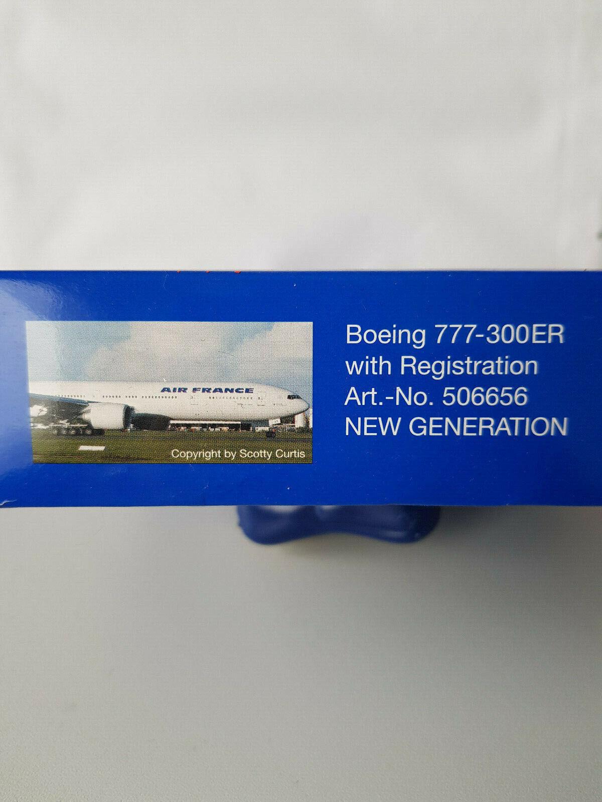 1 1 1 500 Herpa Wings 506656 Air France Boeing 777-300ER with Registration, NEU RAR  | Schönes Design  cb408d