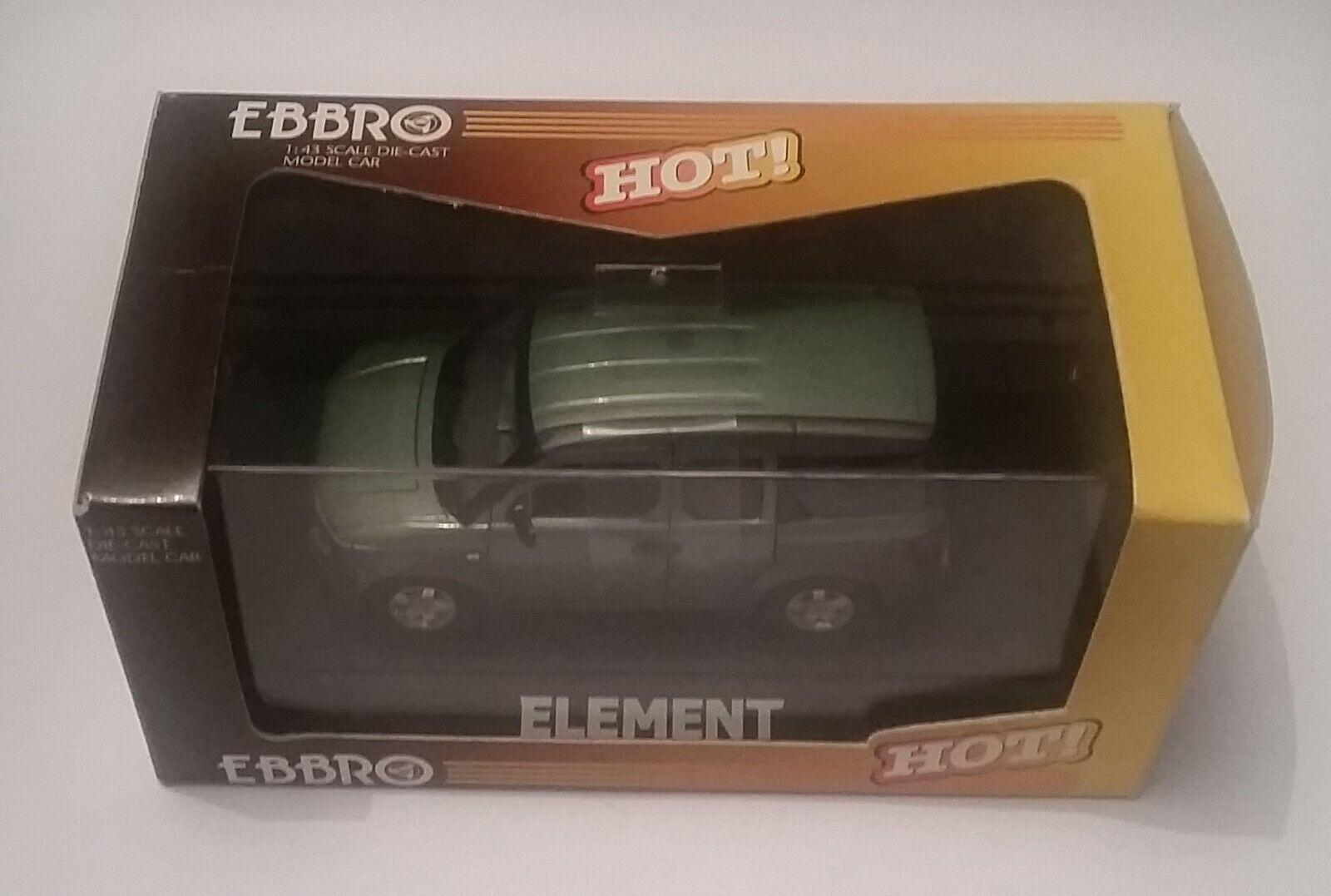 Ebbro heiß  474 1 43 Honda Element galapagos Grün metallic Mint in Box
