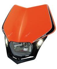 Mascherina Faro Anteriore Moto Universale Rtech V-face LED Arancio KTM Headlight