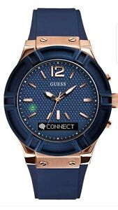fc7439029d3e GUESS Women s Stainless Steel Connect Smart Watch - Amazon Alexa ...