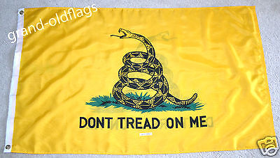GADSDEN-DOUBLE SIDED- DON'T TREAD ON ME-TEA PARTY FLAG 3x5