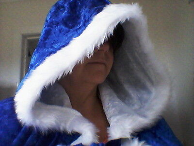 hooded velvet cinders belle crushed cape fur trim adult princess elsa winter ASxqwFHR