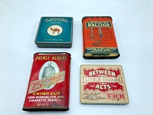 Vintage Tobacco Tins Camel Sir Walter Raleigh Prince Albert Between the Acts