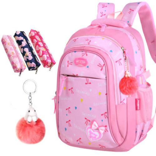 Student Girl Kids Backpack School Bookbag Shoulder Bag Handbag with Pencil Bag