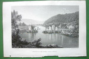 GERMANY-Junction-of-Rivers-Fulda-amp-Werra-CPT-BATTY-Antique-Print-Engraving