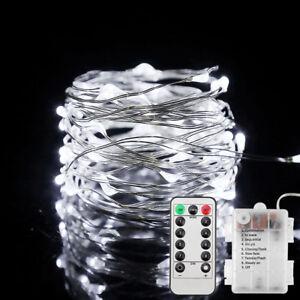 Lichterkette-10M-100LEDs-Gartenluechte-Weihnachtsdeko-mit-Fernbedienung-Timer-DE