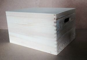 * Bois De Pin Caisse De Stockage Avec Couvercle 40x30x23cm Dd170 Mémoire Mariage Boîte Jouet (z3)-afficher Le Titre D'origine Des Performances InéGales