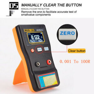 MESR100-V2-Auto-Ranging-In-Circuit-ESR-Capacitor-Meter-Tester-0-001-to-100R-Clip