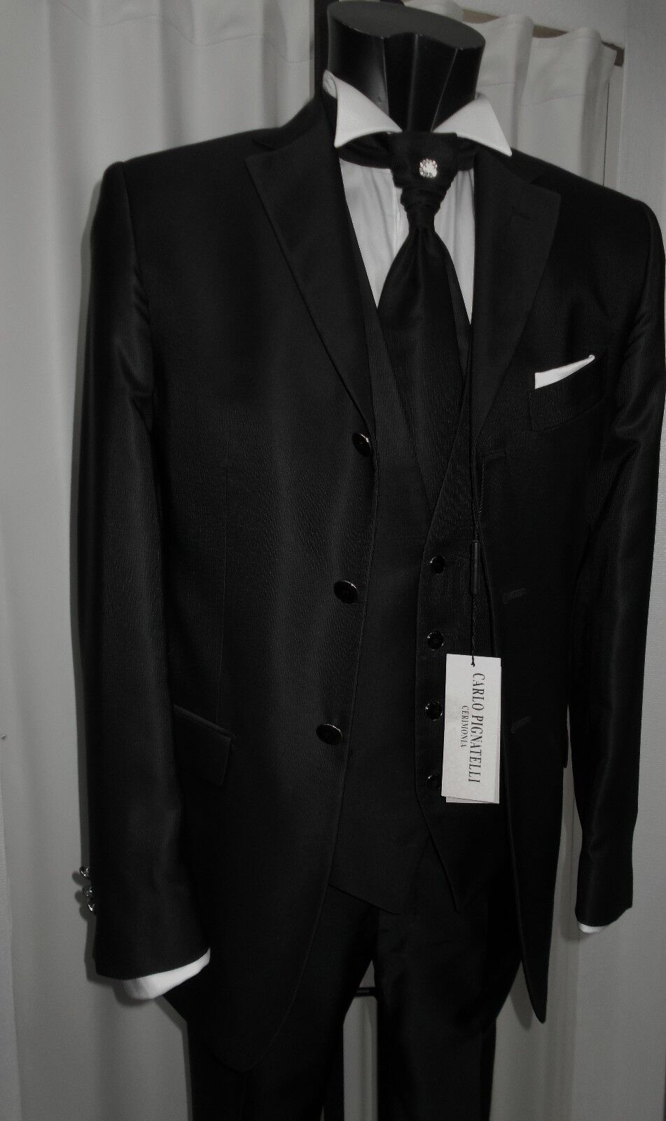 Suit Groom T.50 Signed Carlo Pignatelli Suit Groom Wedding Designer