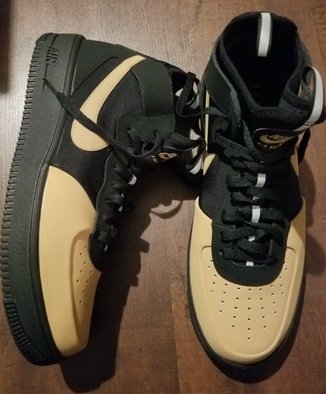 Nike Uomo air force 1 tech dimensioni 11,5 ultraforce tech 1 nero / oro ah6746-002 elementale aad8fc