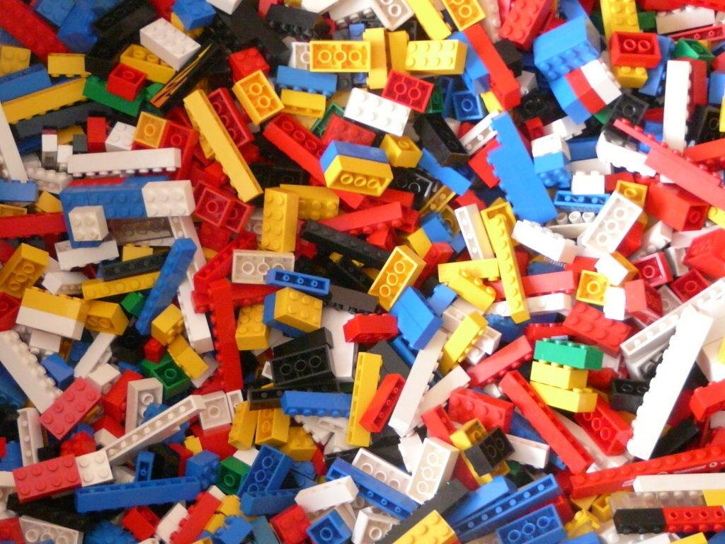 1kg. Lego Basicsteine , nur Bausteine bunt gemischt viele Farben,Top und Sauber