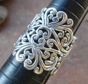925-Sterling-Silver-LH110-Balinese-Handcrafted-Ring-Filigree-Size-8