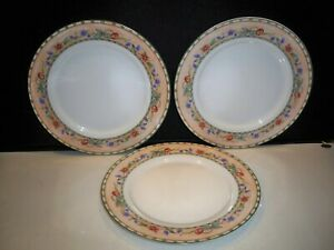 3-CHERRY-VALLEY-ONEIDA-TABLE-TRENDS-DINNERWARE-DINNER-PLATES-10-1-4-039-039