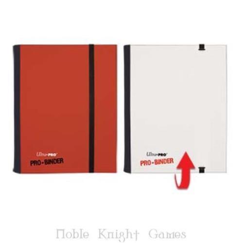 WHITE 4 Pocket ALBUM Binder MAGIC POKEMON YUGIOH DRAGON BALL Ultra Pro RED