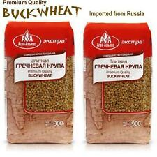 Premium Quality BUCKWHEAT groats - (2) Two 900gr Packs - Imported from Russia