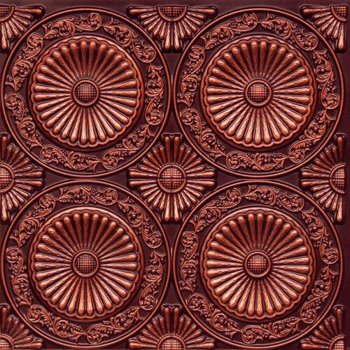 Decorative Ceiling Tiles Faux Tin 2/' x 2/' Antique Copper 12-Pack #235 Glue Up