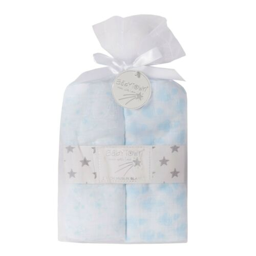76x76cm 100/% Cotton Muslins 2 Pack Baby Muslin Squares Baby Wrap Swaddle