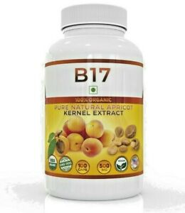 Vitamin B17 100% Organic 500mg/100capsules Apricot Kernels Seeds Extract Pure US