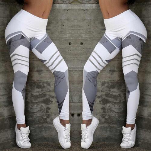 Women Hot Push Up Yoga Pants Sport Gym Workout Leggings Fitness Geometric Pants