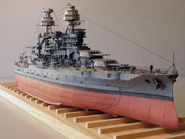 3d DIY Paper Model Kit Scale 1/250 US Navy USS Arizona Bb-39 Battleship  75cm 30