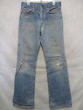 A6274 Levi's 517-0217 USA Made Grunge Blackstitch Jeans Men 33x33