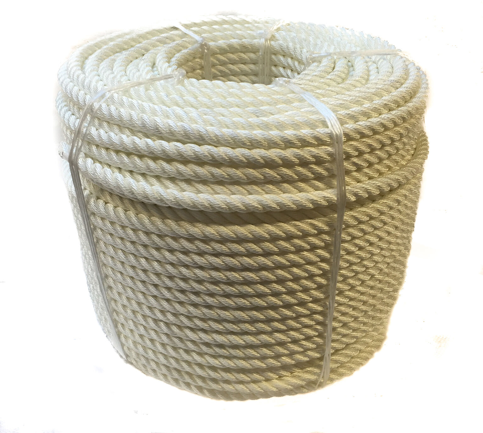 8mm White Nylon Rope, Anchor Boat Mooring Yacht, 3 Strand, moorings, towing