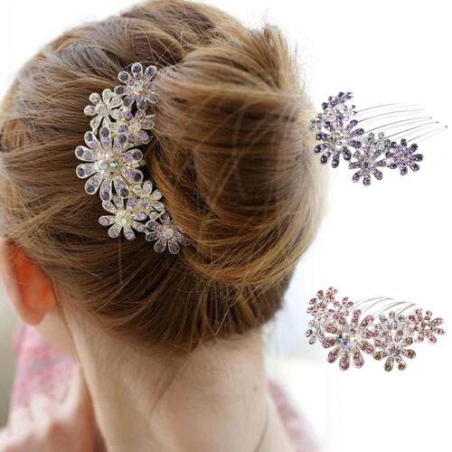 Km /_ Kq /_ Damen Strass Blume Haarnadel Kamm Klammer Hochzeit Braut Party Headwe