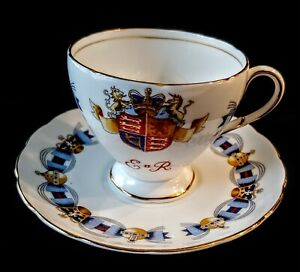 Vintage FOLEY CORONATION CUP & SAUCER June 2, 1953 Bone China England