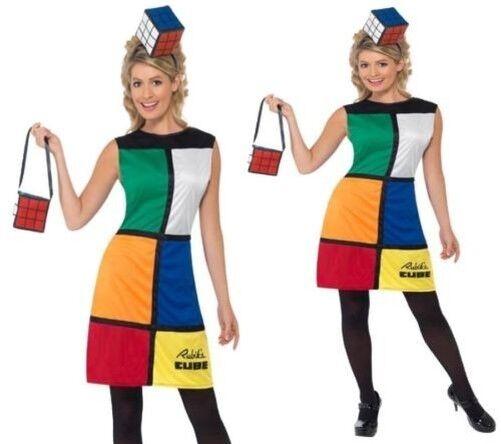 80's Zauberwürfel Kostüm Damen Kostüm Retro Damen Outfit 8 - 18 | Ausgezeichnete Leistung