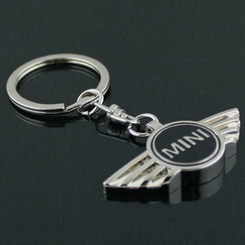 Mini Cooper Metal Pendant Key Fob Key Chain BLACK UK STOCK