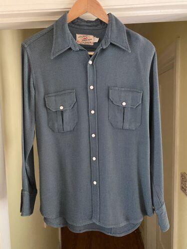 VTG 50s JACK FROST Pearl Snap Western Shirt Gabard