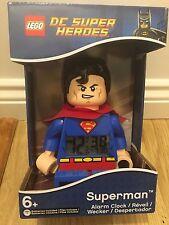 NEW LEGO DC Universe Super Heroes Superman Minifigure Alarm Clock