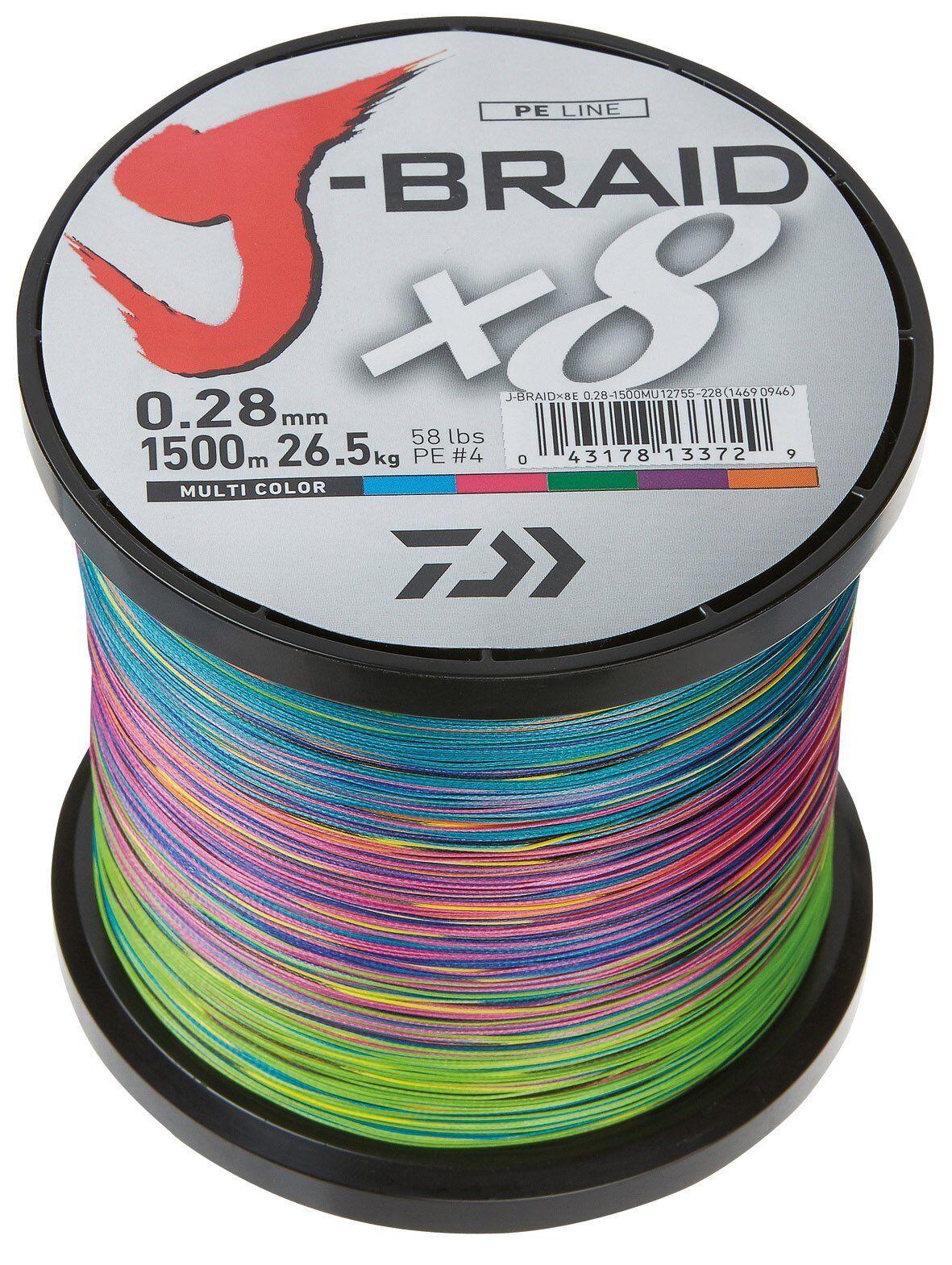 Daiwa J-Braid 8 Braid 300m multicolour - geflochtene Angelschnur