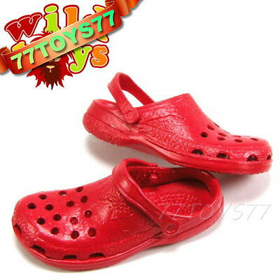 Wild Toys 1/6 Clogs_ Red_ Sandel Fashion Shoes ACI   WT006J