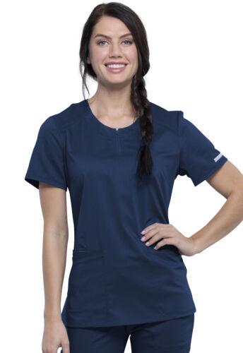 NEW STYLE Navy Cherokee Scrubs Workwear Revolution Round Neck Top WW602 NAV