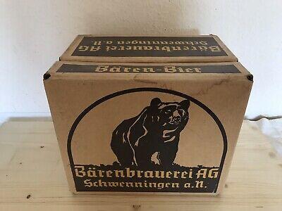 Papp Box /kiste Leihkasten 2 Dm Bier Bierkiste Bärenbrauerei Schwenningen A,n