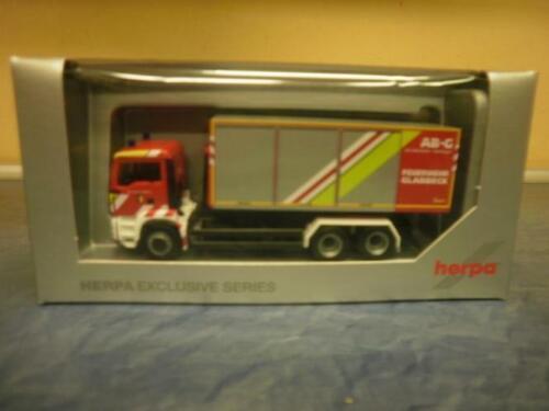 Herpa MAN TG-S M Abrollcontainer-LKW Feuerwehr Gladbeck