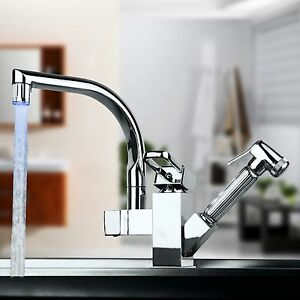 image is loading solid brass kitchen sink bar faucet with pull - Brass Kitchen Sink