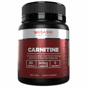 MUSASHI-Carnitine-60-Capsules-Supports-Fat-Metabolism-341mg-L-Carnitine