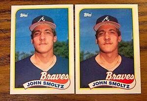 1989 Topps #382 John Smoltz RC - Braves (2)