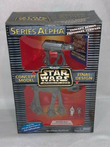 * Comme Neuf In Box * Star Wars Micro Machines Série Alpha Concept Vehicle-imperial At-at