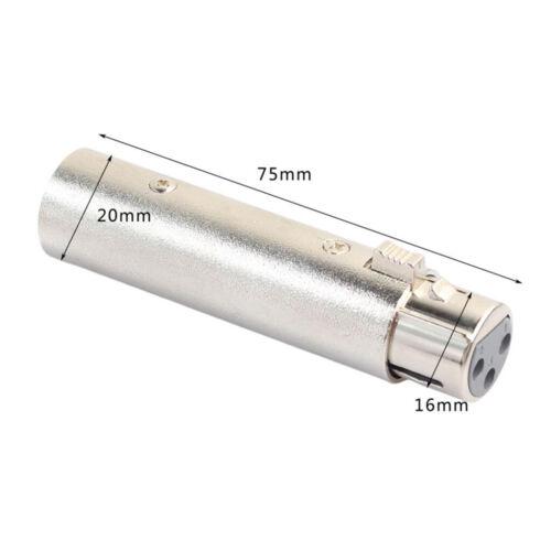 3 Pin XLR male auf female Audio Klinkenstecker Mikrofon Adapter